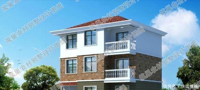 25万占地100平米3厅6卧三层带车库农村小别墅