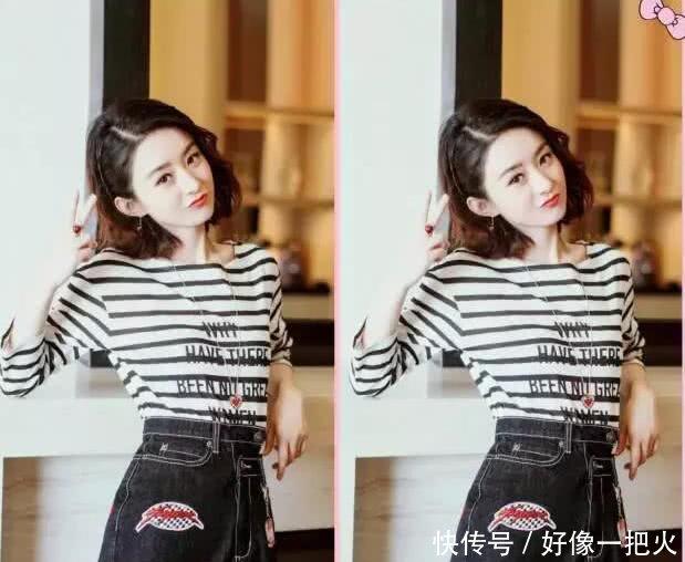 赵丽颖换了个网友,发型却都说她整容了丸子头像头男漫画图片