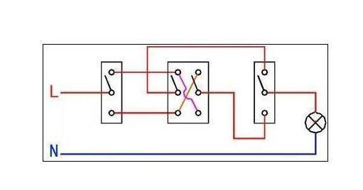 三个开关控制一个灯,怎么布线和用什么开关?
