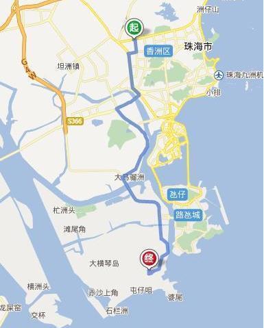 珠海君怡国际酒店离珠海长隆海洋王国有多远?