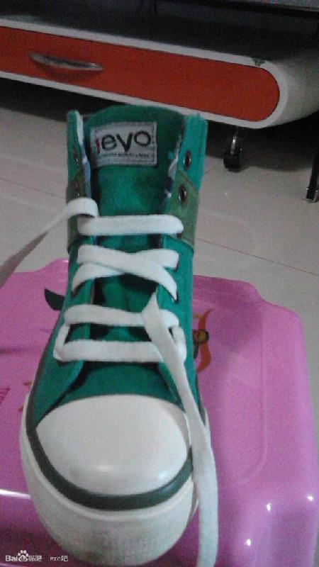 exo六个孔系鞋带方法