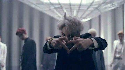 exo中毒爱心手势