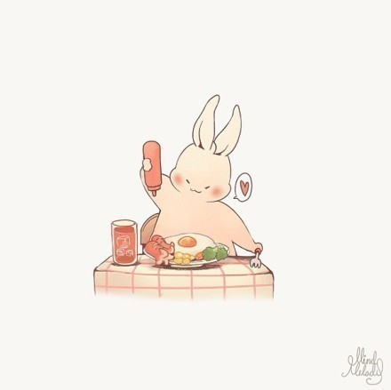 可爱的兔兔微信头像