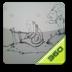 360手机桌面主题-骑蜗牛的小女孩