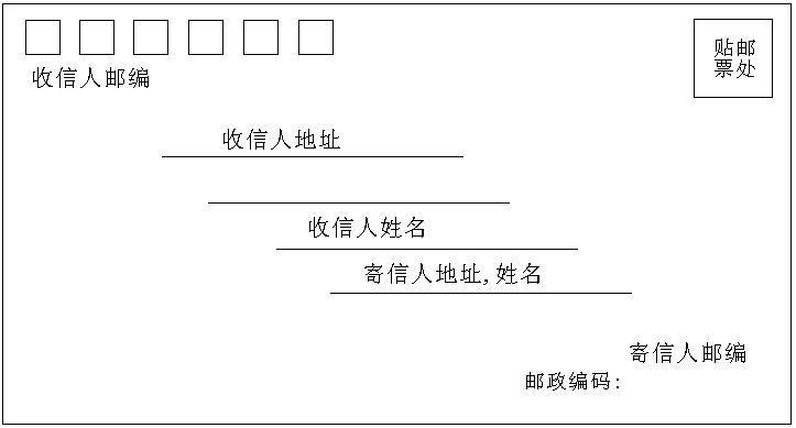 信封的格式图片