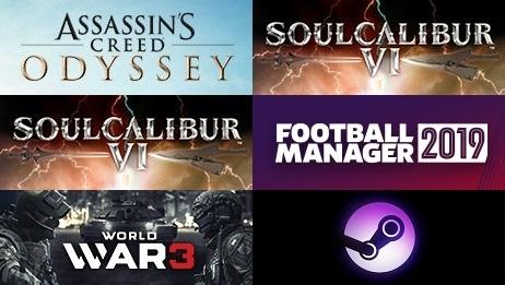 Steam一周销量榜:《刺客信条:奥德赛》成功三连冠