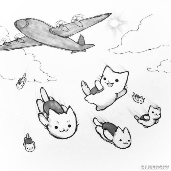 如果《绝地求生》发生在猫咪的世界 战场萌出血