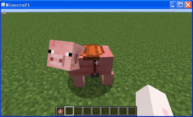 我的世界怎么控制骑猪的方向