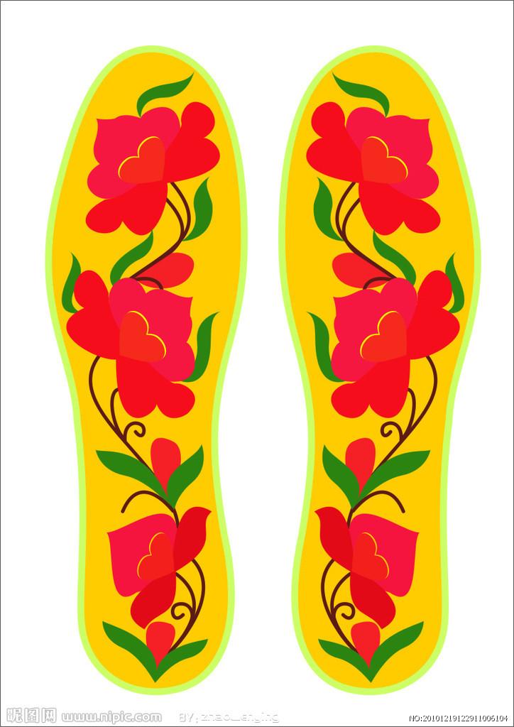 鞋垫树叶花样图案大全