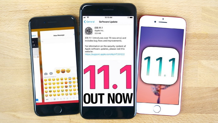 苹果iOS 11.1正式版固件更新开始推送 新增诸多表情包
