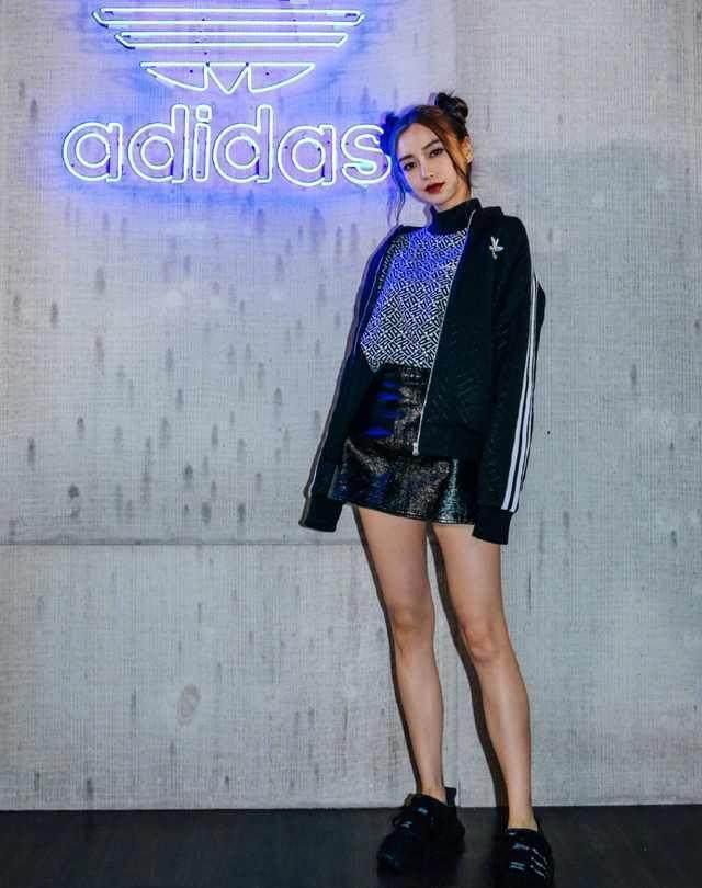 迪丽热巴和杨颖adidas代言照曝光,网友 根本就不是一个档次的
