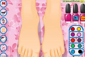 美女护理脚趾甲 美女护理脚趾甲小游戏