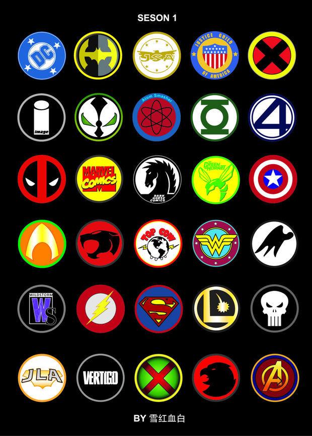 超级英雄图标_标志设计_图片作品欣赏_三联_乐乐简笔画