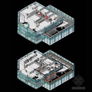 空间结构建筑模型图
