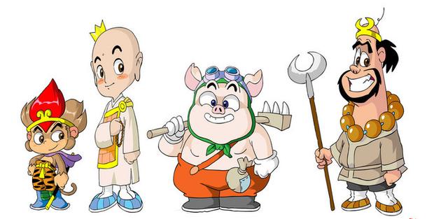 唐僧,孙悟空,猪八戒,沙僧怎么画?