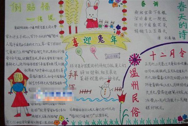 春节手抄报内容资料