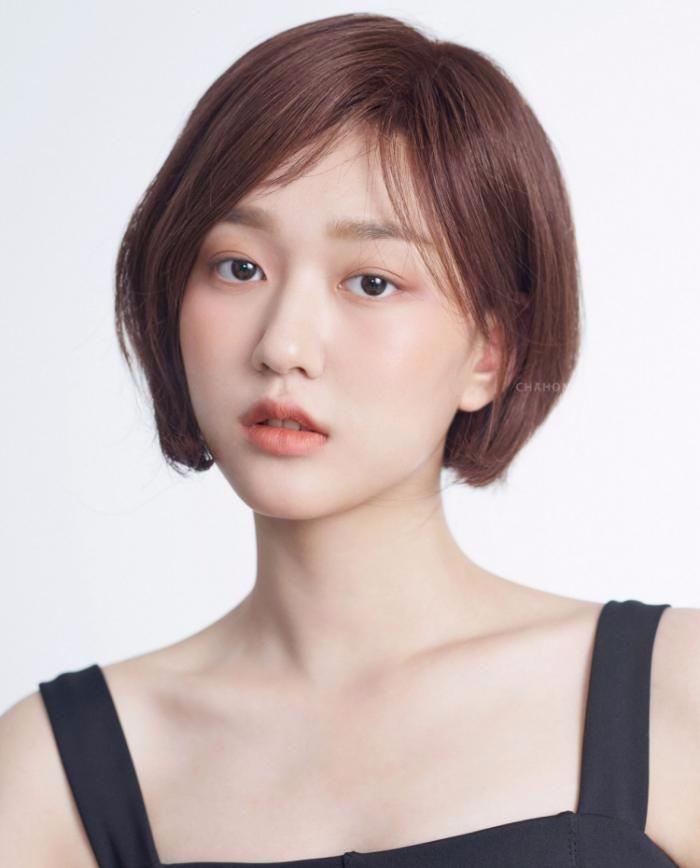 短发女孩 韩国手绘