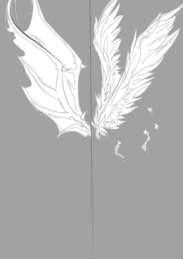 漫画翅膀怎么画