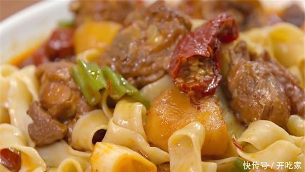 大盘鸡,色彩搭配有食欲,量大味足特别饱腹