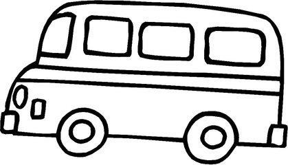 大巴车怎么画