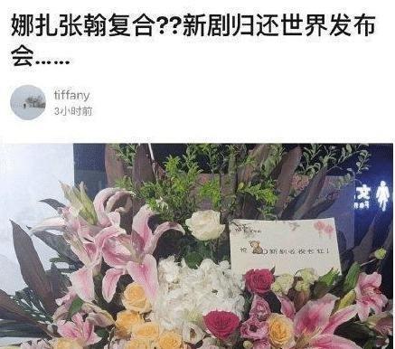 张翰娜扎复合是假,送的花篮被扔掉,江苏卫视故意营销带节奏