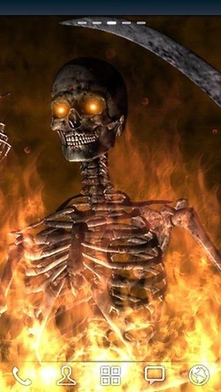 地狱火骷髅壁纸; 地狱火骷髅壁纸_手机地狱火动态壁纸_地狱火骷髅动态