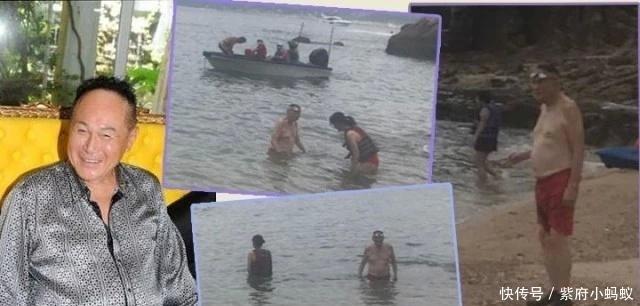 82岁爱情玩家赵世曾陪30岁女友戏水,精力充沛全程照顾女方