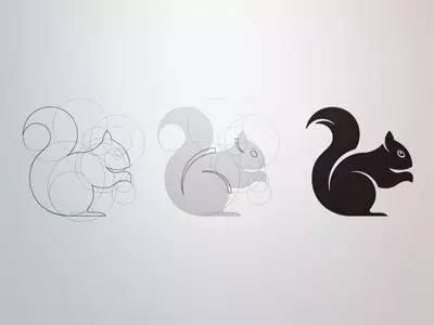 几何拼接图形动物
