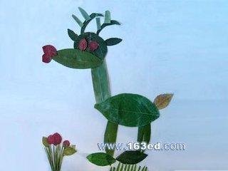 各种各样的叶子名称用植物的叶子拼成的各种各样动物的图片有哪些 图片