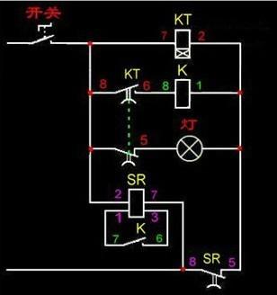 电气符号kt的线圈有个x是什么意思