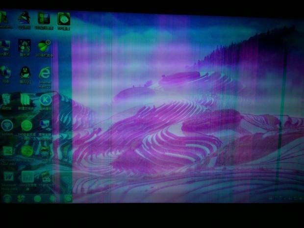 笔记本电脑屏幕变色