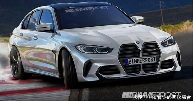 2021款BMWM3假想图30升双涡轮直列六缸发动机输出503hp