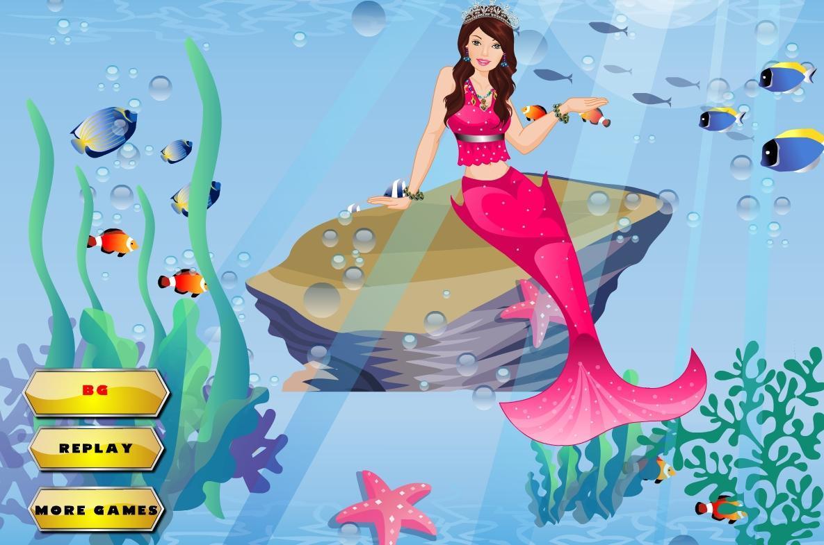 可爱的美人鱼装扮