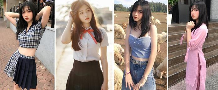 冷酷辣妹身材十分有料 18岁越南校花网上走红