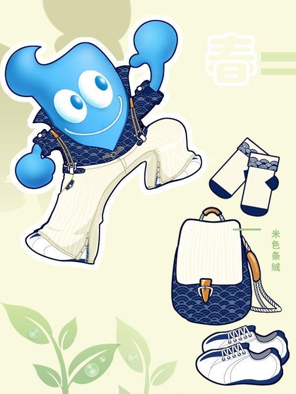 找一个动漫卡通样子是蓝色长方形的头发像月亮弯的叫什么名字 不是海