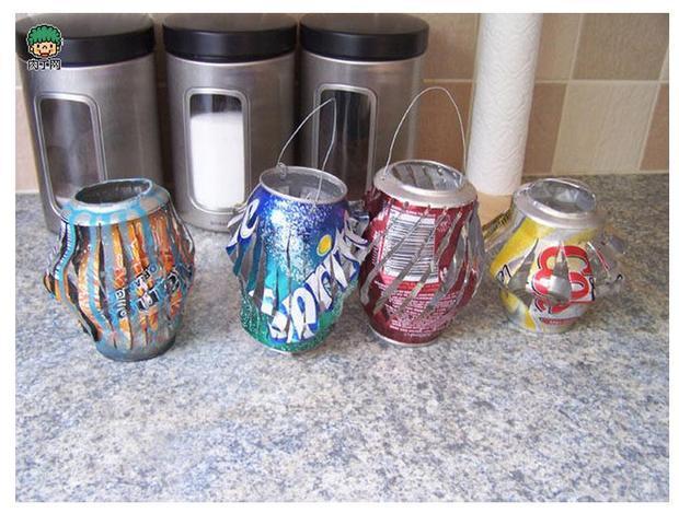 如何用纸杯和易拉瓶做灯笼
