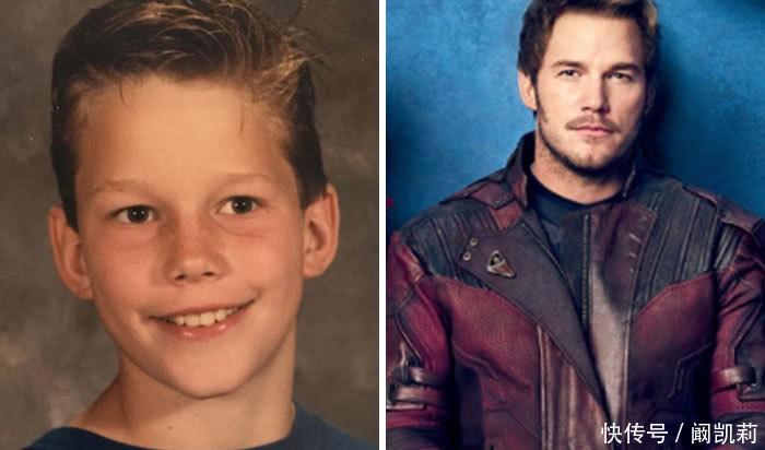 复仇者联盟小时候的照片曝光,蜘蛛侠从小帅到大