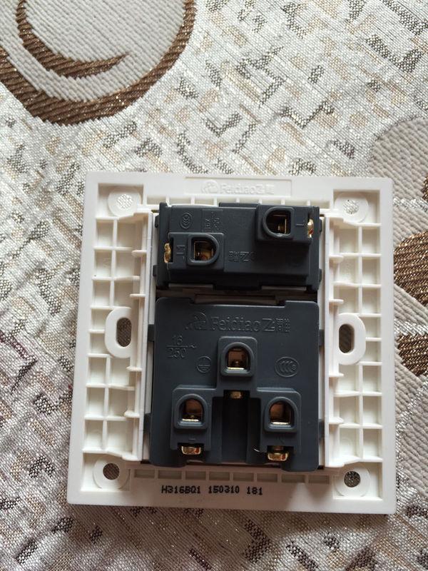 空调插座带开关怎么接线,有图,谢谢 三路知识网