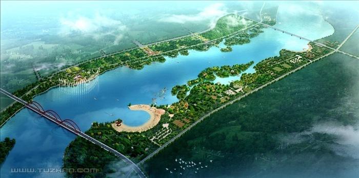 滨河绿地设计功能分区