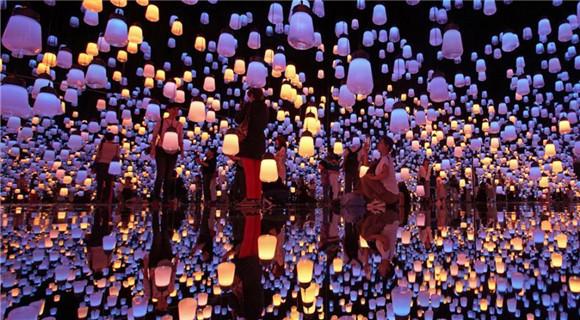 东京数码艺术博物馆开馆 美若神奇幻境