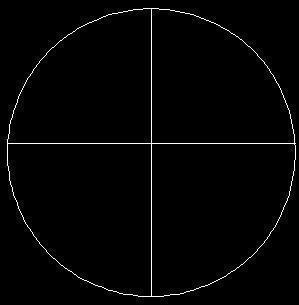 在cad当中怎么把这个圆分成四份