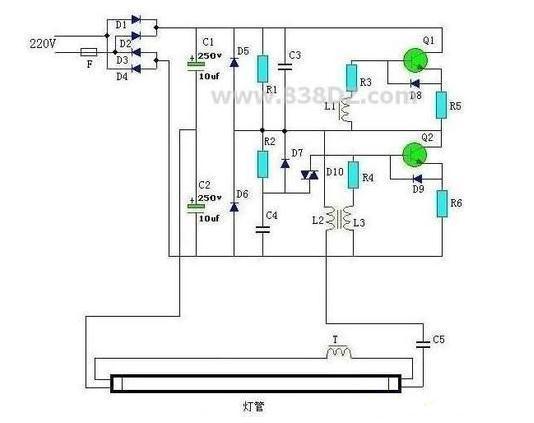 信息中心 电子镇流器接线图    电子镇流器跟灯管连接部分是卡口式的