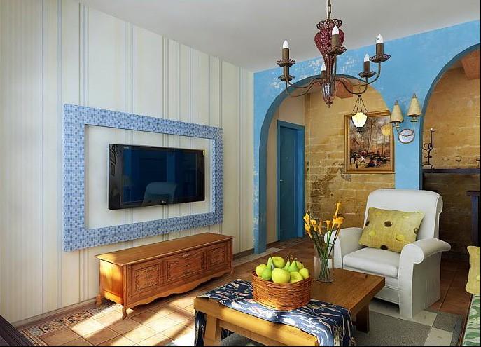 木质桌面白墙素材图
