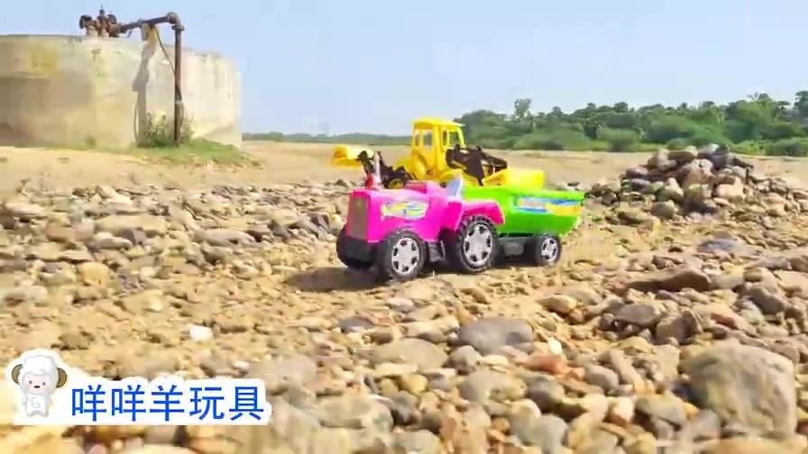 挖掘机和翻斗车需要完成什么任务?要运输很多石头吗?益智玩具车