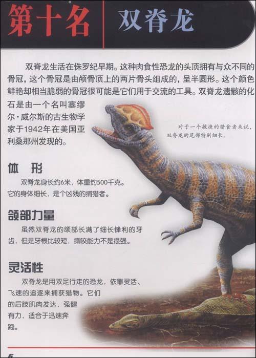 《新奇排行榜:恐龙杀手》列出了史前最凶猛的10种