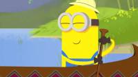 神偷奶爸:吃货小黄人诞生!小黄人与萌友同时看到香蕉,连船都划不动了爆笑!