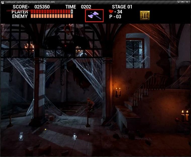 虚幻4版《恶魔城》游戏画面