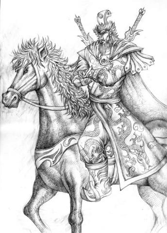 古代人物素描画