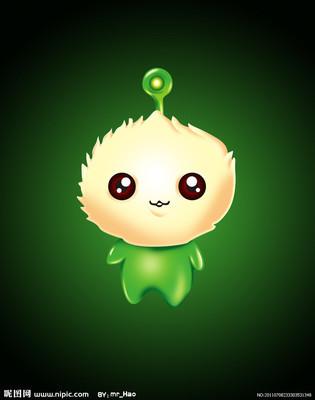 全身绿色头顶上掉这个灯泡这是哪个动画片的人物