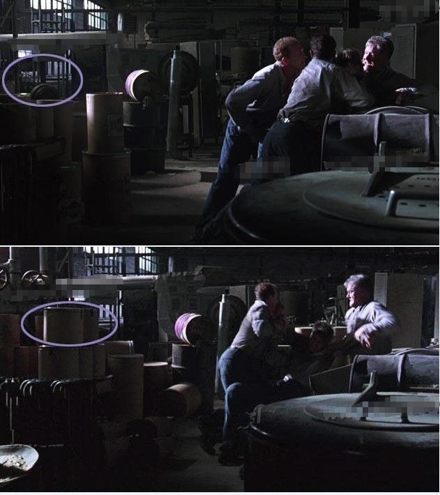 搞笑穿帮镜头:肖申克细节穿帮,安迪被不可描述时背景出现桶子